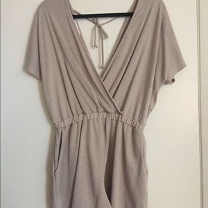 NWT Open Back Romper with Pockets